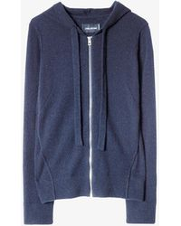 Zadig & Voltaire Cassy Cashmere Hoody - Blue
