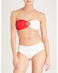 Paper London | Florentine Heart Cutout Strapless Bikini | Lyst