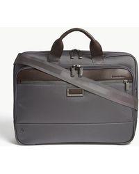 Briggs & Riley - @work Slim Nylon Briefcase - Lyst