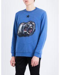 Givenchy - Monkey Brothers-print Cotton-jersey Sweatshirt - Lyst