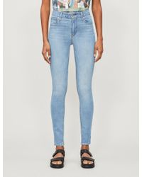 Levi's 721 Faded Skinny High-rise Jeans - Blue