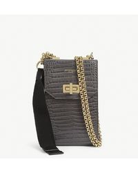Givenchy Leather Phone Cross-body Bag - Grey