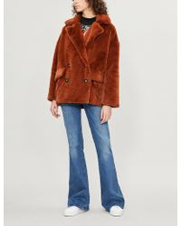 Free People - Kate Double-breasted Faux-fur Jacket - Lyst