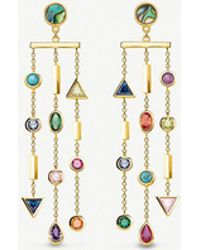Thomas Sabo - Paradise Cascade Sterling Silver And Coloured Stone Earrings - Lyst