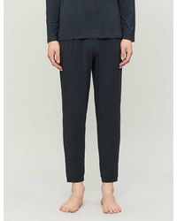 Derek Rose Marlowe Stretch-jersey Pajama Bottoms - Gray
