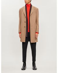 Canali Single-breasted Wool Overcoat - Natural