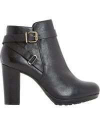 Dune - Puggy Leather Ankle Boots - Lyst