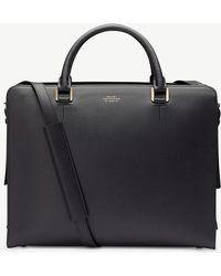 Smythson Grosvenor Briefcase - Black
