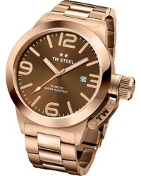 TW Steel Cb191 Canteen Rose Gold Pvd-plated Stainless Steel Watch - Metallic