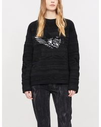 Givenchy - Sequin-embellished Knitted Jumper - Lyst