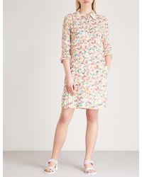 Zadig & Voltaire - Rubis Butterfly-print Silk Shirt Dress - Lyst