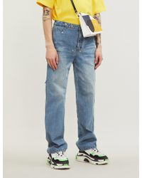 ADER error Faded Relaxed-fit Straight Jeans - Blue