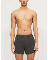 KENZO Logo-print Shell Swim Shorts - Black