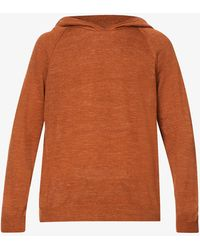 Oscar Jacobson Pascal Relaxed-fit Linen-blend Hoody - Brown