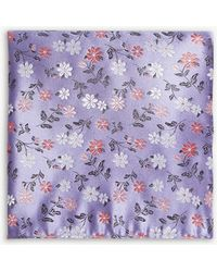 Duchamp - Daisy Floral Print Silk Pocket Square - Lyst
