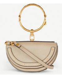 Chloé Nile Half Look Leather Minaudière Bag - Multicolour