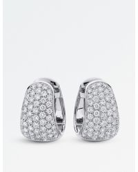BUCHERER JEWELLERY - Classics 18ct White-gold Diamond Earrings - Lyst