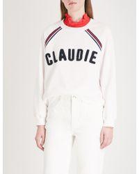 Claudie Pierlot - Logo-embroidered Cotton-blend Sweatshirt - Lyst