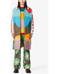 Walter Van Beirendonck Khiva Graphic-pattern Woven Coat - Multicolour
