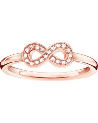 Thomas Sabo - Infinity Sterling Silver And Diamond Ring - Lyst