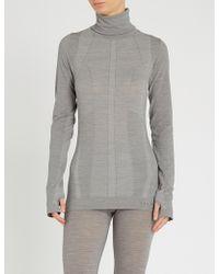 FALKE Wool-tech Wool-blend Top - Grey