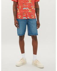 Levi's - 501 Hemmed Slim-fit Straight-leg Shorts - Lyst
