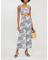 Reformation Tiki City-print Crepe Two Piece - Multicolour