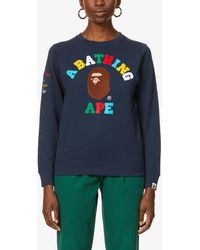A Bathing Ape Rainbow University Cotton-jersey - Blue