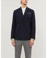 Paul Smith Kensington-fit Double-breasted Wool Blazer - Blue