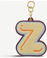Chaos Initial Z Chenille luggage Tag - Metallic