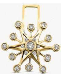 The Alkemistry Robinson Pelham 14ct Yellow Gold And Diamond Snowflake Earwish - Metallic