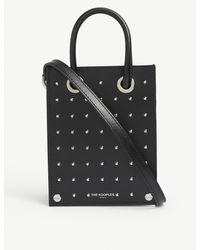 The Kooples Studded Micro Leather Top-handle Bag - Black