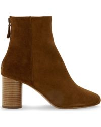 Sandro - Sacha Suede Heeled Ankle Boots - Lyst