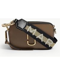 Marc Jacobs Women's French Grey Snapshot Cross-body Wallet - Gray