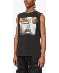 Haculla Skate Or Die Graphic-print Cotton-jersey Tank Top - Black