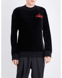 Vivienne Westwood Anglomania - Chaos Cotton-jersey Sweatshirt - Lyst