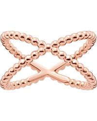 Thomas Sabo - Criss-cross Dot 18ct Rose Gold-plated Ring - Lyst