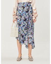 Preen Line - Daria Floral-print Chiffon Midi Wrap Skirt - Lyst