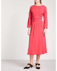 Finery London Freda Crepe Midi Dress