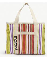 Isabel Marant Warden Striped Canvas Tote Bag - Multicolour