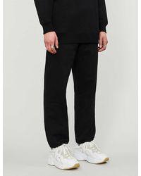 Acne Studios High-rise Cotton-blend jogging Bottoms - Black