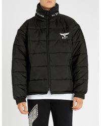 BOY London Reversible Padded Shell Jacket - Black