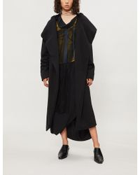 DRKSHDW by Rick Owens - Wrap-over Cotton-jersey Robe Jacket - Lyst
