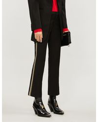 Zadig & Voltaire Cropped Straight High-rise Wool Trousers - Black