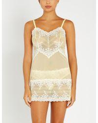 Wacoal Embrace Lace Chemise Nightdress Nightwear 814191 Lemon//Ivory