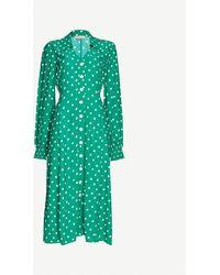 Kitri Sylvie Jacquard Midi Dress - Green