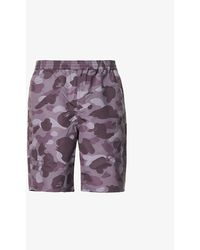 A Bathing Ape Colour Camo Reversible Shell Shorts - Multicolour