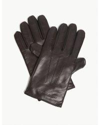 Emporio Armani - Nappa Leather Gloves - Lyst