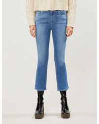 PAIGE Colette Flared High-rise Jeans - Blue
