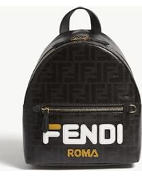 Fendi - Fila Logo Mini Leather Backpack - Lyst